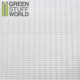 ABS Plasticard - SMALL RECTANGLES Textured Sheet - A4