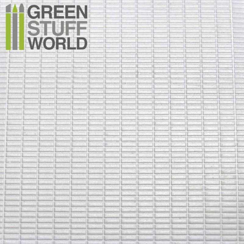 Plancha Plasticard Texturizado RECTANGULOS PEQUEÑOS - tamaño A4