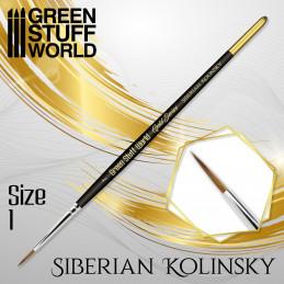 GOLD SERIES Siberian Kolinsky Brush - Size 1