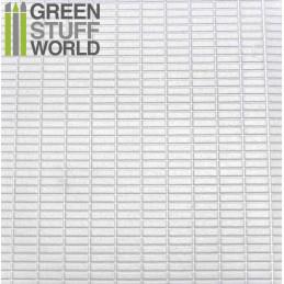 Plancha Plasticard Texturizado RECTANGULOS MEDIANOS - tamaño A4