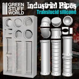 Silikon Texturplatten - Rohrleitungen