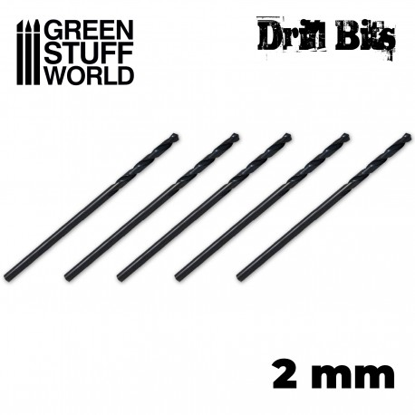 Drill bit in 2 mm
