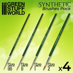 GREEN SERIES Set de Pinceaux Synthétiques