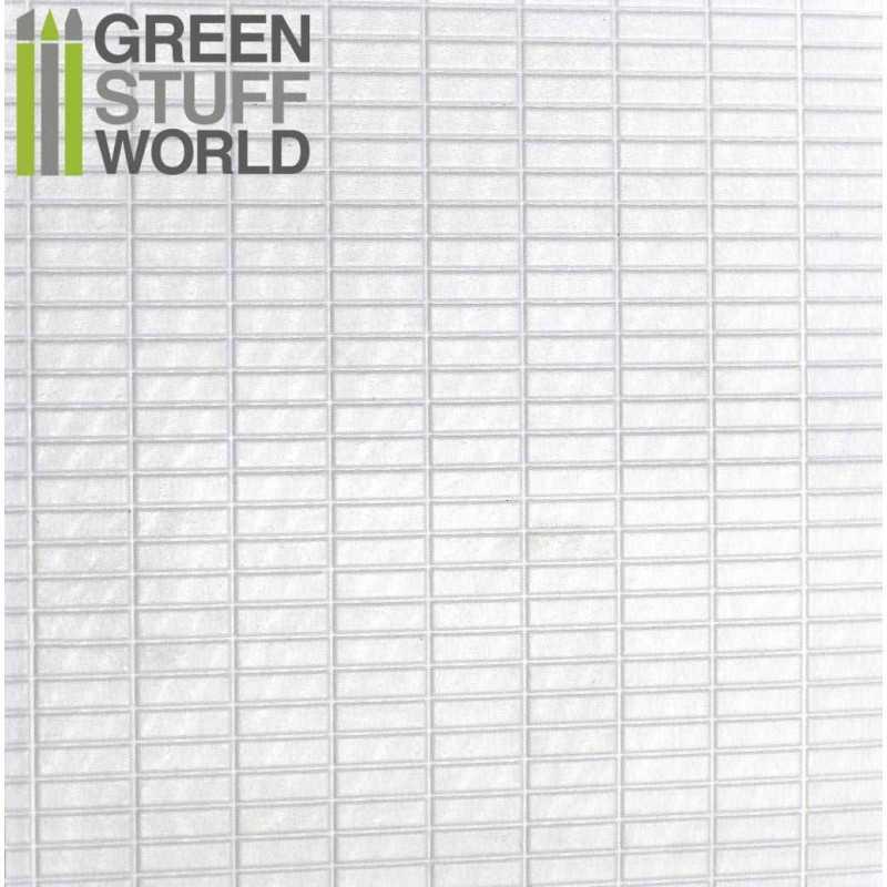 Plancha Plasticard Texturizado RECTANGULOS GRANDES - tamaño A4