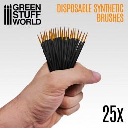 25x Pinceaux Synthétiques Jetables