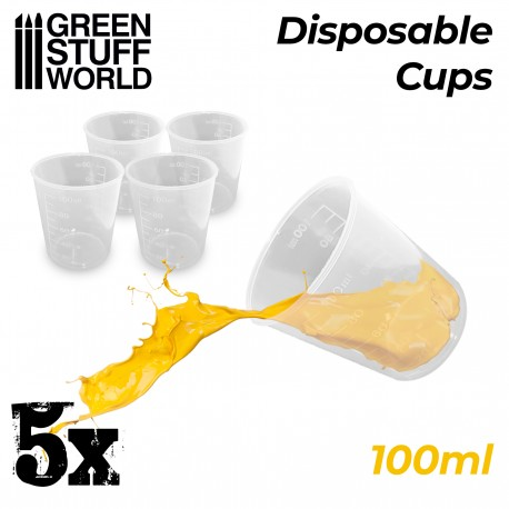 5x Disposable Cups 100ml