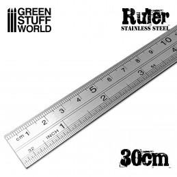 Edelstahl-Metall-Lineal 30cm