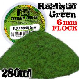 Static Grass Flock XL - 6 mm - Realistic Green - 280 ml