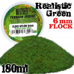Static Grass Flock XL - 6 mm - Realistic Green - 180 ml
