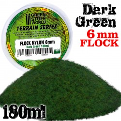 Static Grass Flock 6 mm - Dark Green - 180 ml