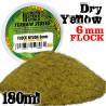 Static Grass Flock 6 mm - Dry Yellow - 180 ml