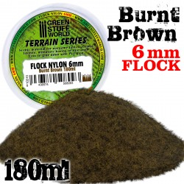 Static Grass Flock 6 mm - BURNT Brown - 180 ml