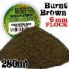 Static Grass Flock 6 mm - BURNT Brown - 280 ml