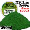 Elektrostatisches Gras 6 mm - Mittelgrün - 280ml