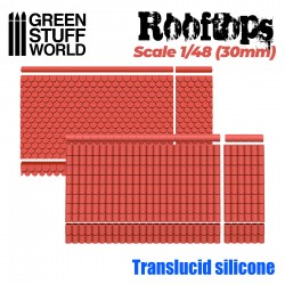 MOULES en Silicone - Toits 1/48 (30mm)