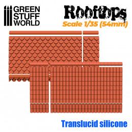 Moldes de Silicona Tejados 1/35 (54mm)