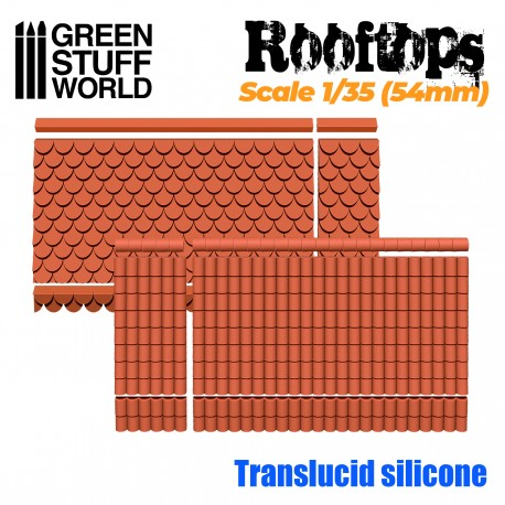 Silicone Molds - Rooftops 1/35 (54mm)