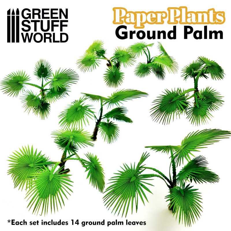Plantas de Papel - Palmera Suelo