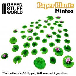Plantas de Papel - Nenufares