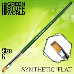 Flach Synthetische Pinsel Größe 6