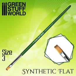 Flach Synthetische Pinsel Größe 3