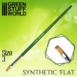 GREEN SERIES Pinceau Synthétique Plat Taille 3