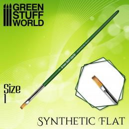 Flach Synthetische Pinsel Größe 1