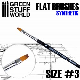 Flat Synthetic Brush Size 3