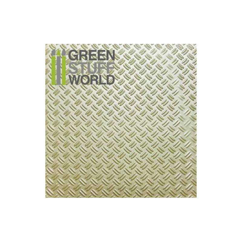 Plancha Plasticard Texturizado DOBLE DIAMANTE - tamaño A4