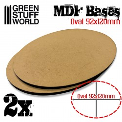 MDF Bases - Oval 92x120mm