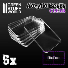 Socles Acryliques CARRÉS 60x40mm Transparent