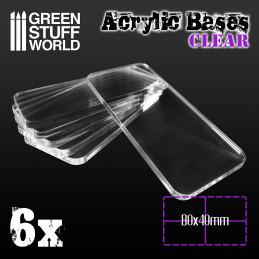 60x40mm quadratisch und transparent Acryl Basen
