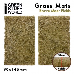 Grass Mat Cutouts - Brown Moor Fields