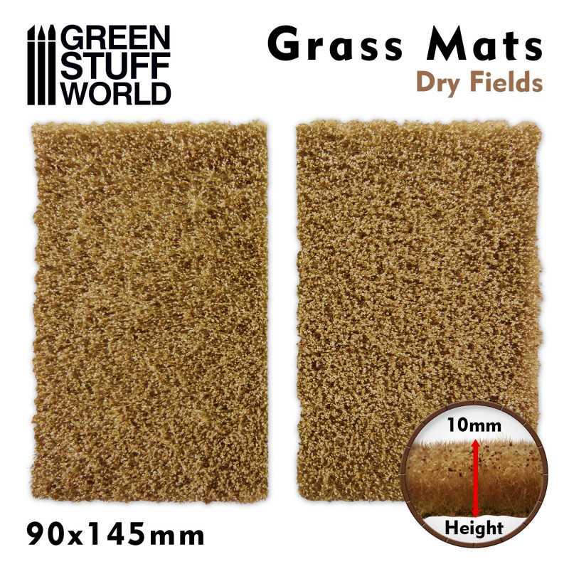 Grasmattenausschnitte - Trockene Felder