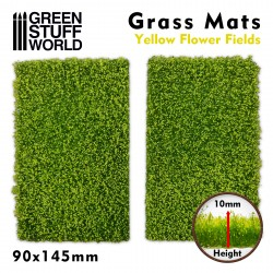 Grass Mat Cutouts - Yellow Flower Field
