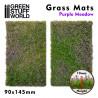 Grass Mat Cutouts - Purple Meadow