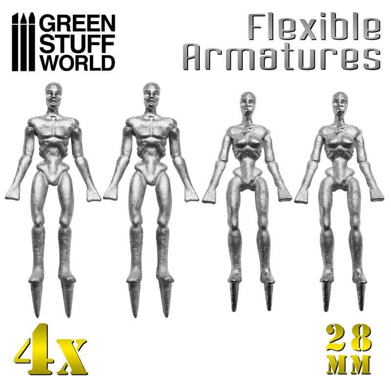 Flexible Armatures in 28 mm