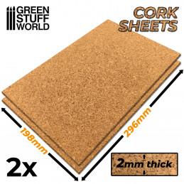 Planchas de Corcho 2 mm x2