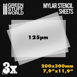 A4 Mylar Schablonenblätter x3