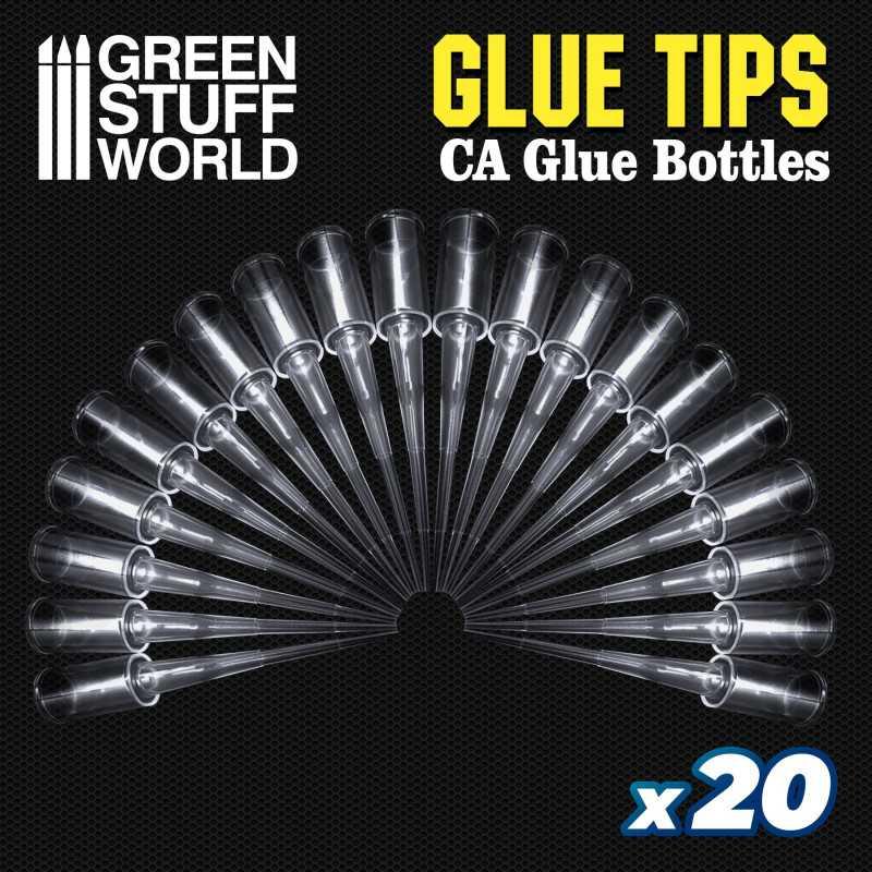 20x Precision tips for Super Glue Bottles