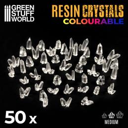 Cristales de Resina TRANSPARENTES - Medianos