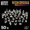 GREEN Resin Crystals - Medium