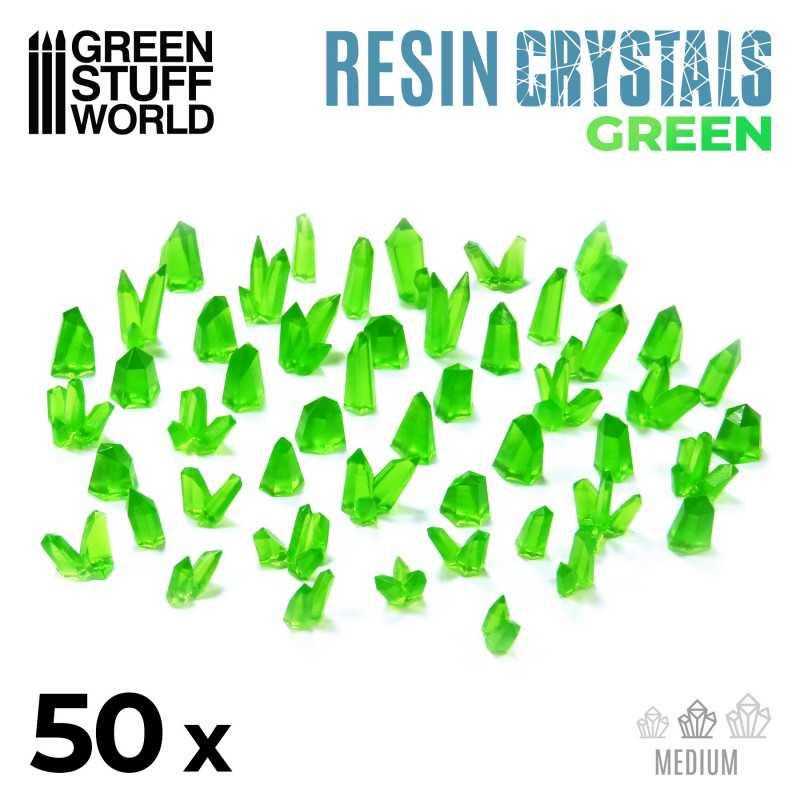 Cristales de Resina VERDE - Medianos