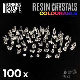 cristaux de résine transparents colorables