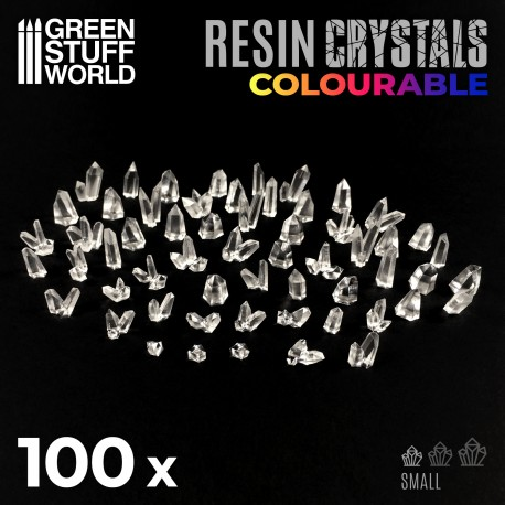 Resin Crystals transparent colorables