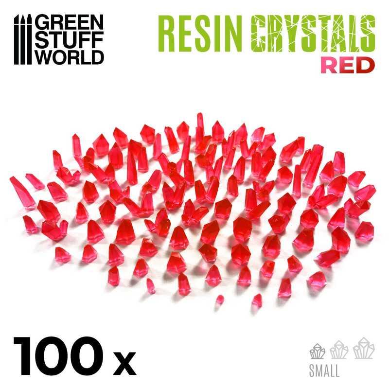 cristaux de résine ROUGE