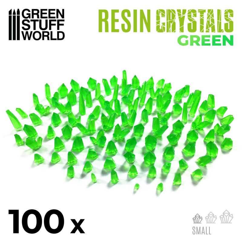 cristaux de résine VERTS