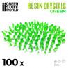 GREEN Resin Crystals