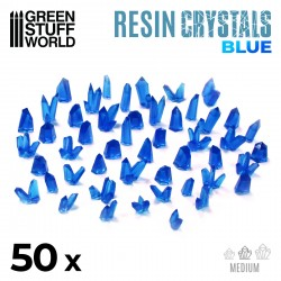 Cristales de Resina AZUL - Medianos