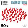 Cristales de Resina ROJO - Medianos